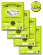 4 Cal King or King Mattress Bags- Pillow Top and Box Spring Compatible. Ideal for Moving, Storage, and Protection From Bed Bugs! Proudly Made in America!