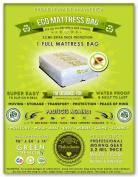 1 Full Size Mattress Bag. Fits All Pillow Tops and Box Springs. Ideal for Moving, Storage and Protecting Your Mattress. Heavy Duty Professional Grade. Easy to Slip on and Seal. Sleep with Peace of Mind and Don't Let the Bed Bugs Bite. Protect Your Inve ..