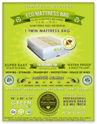 1 Twin Size Mattress Bag. Fits All Pillow Tops and Box Springs. Ideal for Moving, Storage and Protecting Your Mattress. Heavy Duty Professional Grade. Easy to Slip on and Seal. Sleep with Peace of Mind and Don't Let the Bed Bugs Bite. Protect Your Inve ..