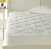 Concierge Collection 300 Tc 100% Cotton Chequered Mattress Pad - Queen