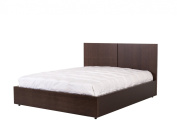 Temahome Aurora Bed with Mattress Support, Queen, Chocolate