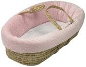 Baby Doll Heavenly Soft Doll Moses Basket Set, Pink