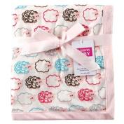 Hudson Baby Sheep Printed Blanket with Plush Backing