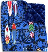 Surfboard Themed Baby Ultra Plush Cuddle Blanket