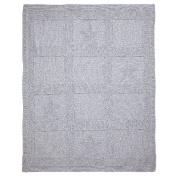 Blanket. Seed Knit Star. Grey. 34x42.
