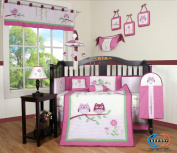 Boutique Pink Entranced Forest 13pcs Crib Bedding Sets