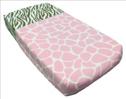 Sisi Baby Design Nappy Changing Table Pad Cover -Pink Safari