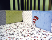 DR. SEUSS CAT IN THE HAT - CRIB BUMPERS WITH FREE PURCHASECORNER TOY