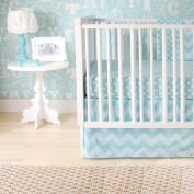 New Arrivals Zig Zag Baby 2 Piece Crib Bedding Set, Aqua