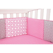 Trend Lab Lily Crib Bumpers, Pink