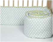 New Arrivals Sprout Crib Bumper-Ice Blue & Green Tea