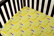 Kids Line Happy Tails Fitted Sheet, Sage Ground