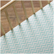 Lolli Living Phinley Fitted Sheet - Aqua Chevron