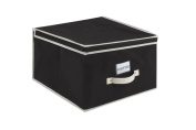 Kennedy Home Collection 5172 Jumbo Size Collapsible Storage Box, Black/Cream