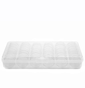 Storage Box Divider Tray 42 Round Individual Clear Containers Multi-functional Organiser For Small Items