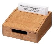 Creative Gifts BAMBOO CARD BOX, 5.1cm X 11cm X