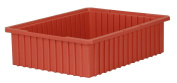 Akro-Mils 33226 Akro-Grid Slotted Divider Plastic Tote Box, 22-3/8 -Inch Length by 44cm Width by 15cm Height, Case of 4, Red