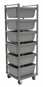 Akro-Mils RA6TR4MR Steel Mobile Rack for 34240 Akro-Tubs, Grey