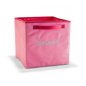 Thirty One Your Way Cube in Coral Mini Gingham - No Monogram - 4119