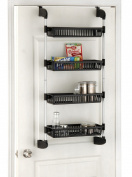 Organise It All Over The Door 4-Basket Unit With Hooks