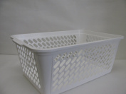 School Smart Storage Baskets - Large - 17 3/4 x 30cm x 18cm - White