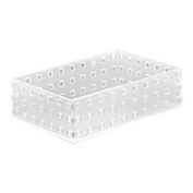 Like-It Bricks 9002 Stackable Hard Plastic Organiser for Kitchen, Bath and Office, White