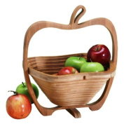 Natural Living Bamboo Apple Collapsible Fruit Basket