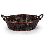 Mahogany Round Tray Basket