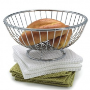 Danesco 23cm Chromed Wire Bread Basket