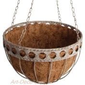 Esschert Design USA Aged Metal Small Hanging Basket