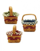 Set of 3 Mini Baskets with Liners