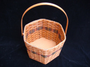 Amish Handwoven Snowflake Basket with Swivel Handle, Measures 27cm X 27cm X 23cm Tall. This Adorable Basket Is Very Unique and Is Certainly the Focus of All Attention of Any Room. The Six Sides Are Very Distinct and Is a Classy Way to Display a Floral ..