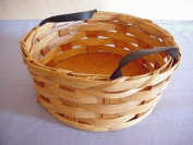 Basket - Button - Potpourri - Change Basket with Leather Loops. Amish Handmade Country Sewing Button Basket or Handy Change Catcher Basket. The Possibilities Are Endless. This Is a Great Unique Gift Idea for Any Country Home and Garden Decor. Accent Co ..