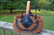 Basket - Egg Buttocks - 100cm Circumference of Handle X 90cm Circumference of Basket Opening. This Traditional Basket Has Also Been Called Buttocks Egg Basket, Fanny Basket, Peanut Basket, Gizzard Basket, Bow Basket and Melon Basket. Accent Colours ..