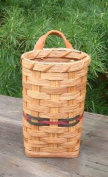Basket - Utensil - Hanging - Approximately Measures 19cm X 10cm X 7.6cm . Accent Colours May Vary (Blue, Green, Red, Burgundy, Purple, Brown, Black, or Natural).