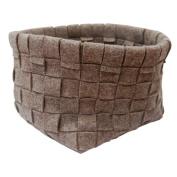Grey Woven Basket - 28cm wide x 28cm long x 24cm high