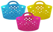 """Plastic Storage Basket, Assorted Bright Colours"""