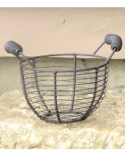 Round Mesh Metal Basket with Two Handles