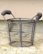 Round Tall Mesh Basket with Two Handles