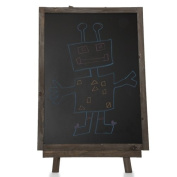 Rustic Brown Wooden Chalkboard with Easel- Large