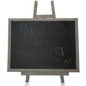 Smokey Grey Wooden Chalkboard with Easel- Large