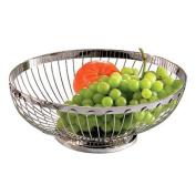 Tablecraft 6174 Stainless Steel Oval Regent Series Basket, 8.3cm by 24cm