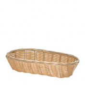 Tablecraft Oblong Woven Poly Basket, 23cm by 8.9cm
