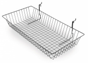 Tucker Rocky 24 x 12 x 4 Mesh Basket Slat Accessory - Black 26-297BL