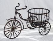 Wire Trike w/Round Basket