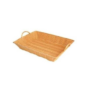 Thunder Group PlasticHand-Woven Basket with Handle, 16 by 28cm by 7.6cm