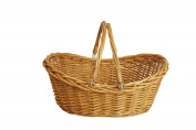 Wald Imports Willow Basket, 43cm , Honey Brown