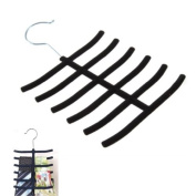 TOOGOO(R) NonSlip Belt Necktie Neck Ties Socks Scarves Hanger Rack Closet Holder