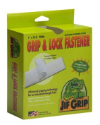 Jifram Jif Grip 14000074 2.5cm by 4.6m Hook and Loop Fastener with Permanent Adhesive Back, White