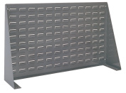 Akro-Mils 98636 Louvred Steel Panel Bench Rack for mounting AkroBins, 90cm Length by 50cm Height by 20cm Width, Grey